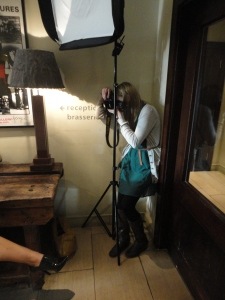 Kerrie Mitchell taking photos