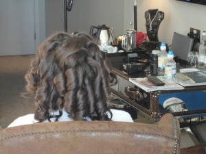 Rollers out of the hair leaving ringlets
