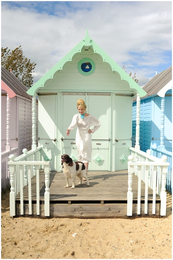 Dog gets into fashion photoshoot
