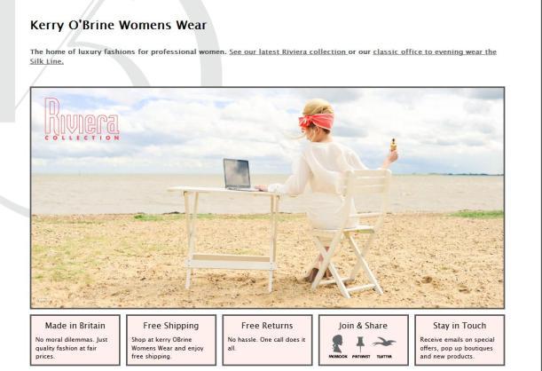Kerry O'Brine Womens Wear Website