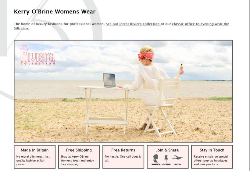 Kerry O'Brine Womens Wear Website