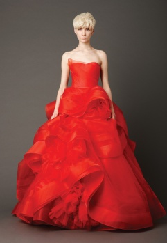 red Vera Wang dress