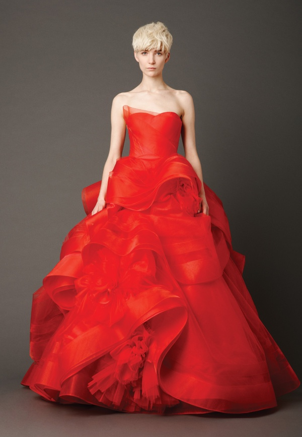 red Vera Wang dress