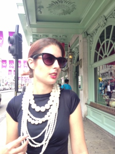 Close up pearls and Fortnums