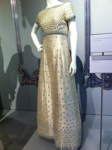 1962 Cream embroidered dress