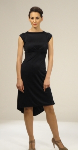 Short sleeved silk jersey dress