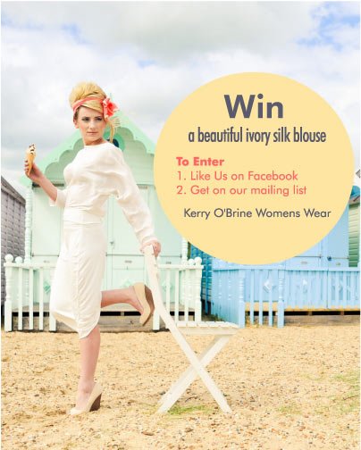 Facebook fashion competition ivory silk blouse 2014