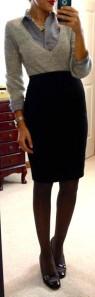 black opaque tights