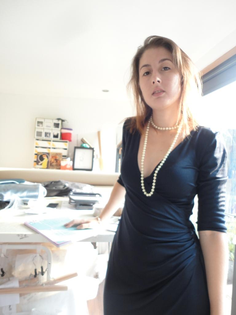 work, designer, wrap, dress, navy,