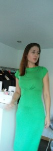 Womens work wear green dress