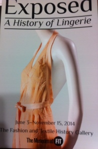 FIT exposed lingerie exhibition leaflet cover