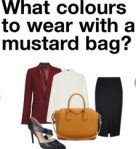 mustard bag, styling, fashion