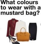mustard bag, styling, fashion