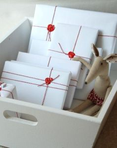 christmas wrapping paper - chic plain white