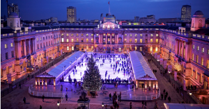 somerset house, ice skating, London, Christmas