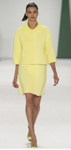 Carolina Herrera S/S 15 lemon suit